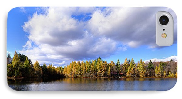 IPhone 7 Case featuring the photograph The Golden Forest At Woodcraft by David Patterson