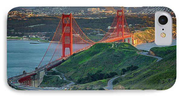 The Golden Gate At Sunset IPhone Case by Rick Berk