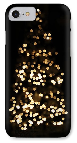 The Golden Glow Of A Christmas Tree IPhone Case by Rona Black