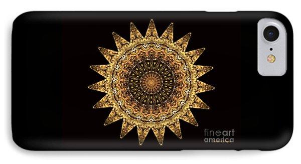 The Golden Sun Mandala IPhone Case by Sandra Gallegos