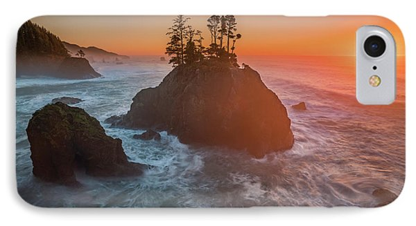 IPhone Case featuring the photograph The Golden Sunset Of Oregon Coast by William Lee