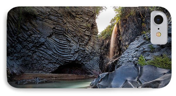The Golden Waterfall IPhone Case by Giuseppe Torre