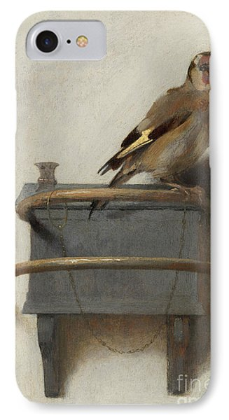 The Goldfinch, 1654  IPhone Case by Carel Fabritius