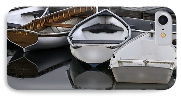 Skiffs On Placid Waters-coastal Maine IPhone Case by Thomas Schoeller