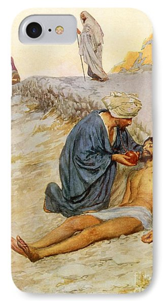 The Good Samaritan IPhone Case by William Henry Margetson