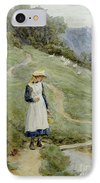 The Goose-girl  IPhone Case by Helen Allingham