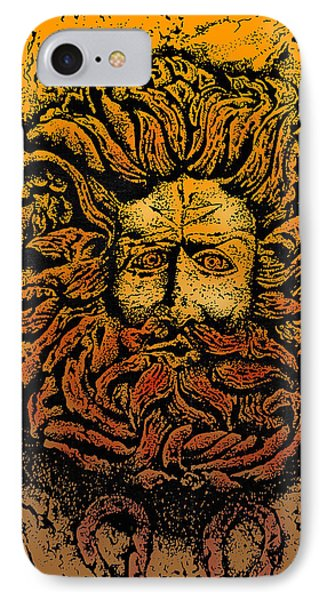 The Gorgon Man Celtic Snake Head Phone Case by Larry Butterworth