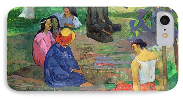 The Gossipers IPhone Case by Paul Gauguin