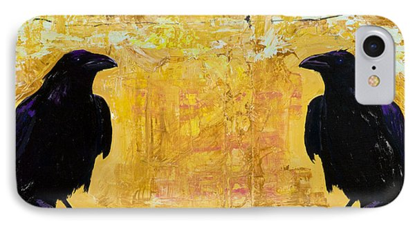 Blackbird iPhone 7 Case - The Gossips by Pat Saunders-White