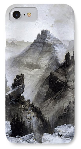 IPhone Case featuring the drawing The Grand Canyon Drawing            by Thomas Moran