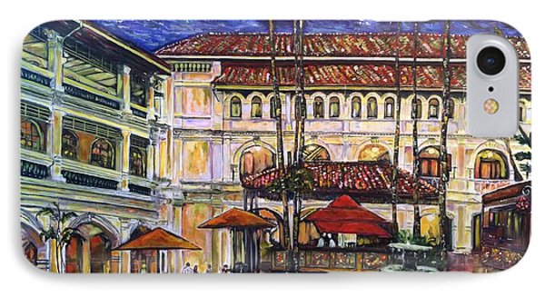 The Grand Dame's Courtyard Cafe  IPhone Case by Belinda Low