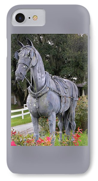 Horse At The Grand Oaks Resort IPhone Case by Warren Thompson