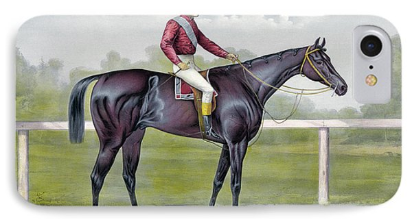 The Grand Racer Kingston  IPhone Case by Currier and Ives