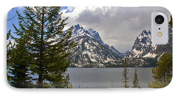 The Grand Tetons And The Lake Phone Case by Susanne Van Hulst