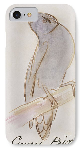 The Gray Bird IPhone Case by Edward Lear
