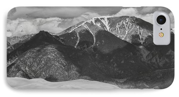 The Great Colorado Sand Dunes  125 Black And White Phone Case by James BO  Insogna