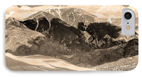 The Great Colorado Sand Dunes In Sepia Phone Case by James BO  Insogna