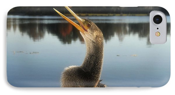The Great Golden Crested Anhinga IPhone 7 Case by David Lee Thompson