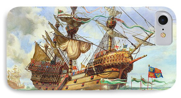 The Great Harry, Flagship Of King Henry's Fleet IPhone Case