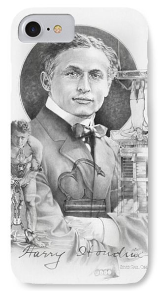 The Great Houdini Phone Case by Steven Paul Carlson