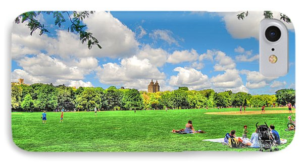 The Great Lawn In Central Park IPhone Case by Randy Aveille