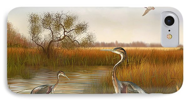 The Great Marsh-jp2860 IPhone Case by Jean Plout