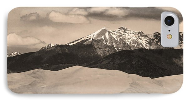 The Great Sand Dunes And Sangre De Cristo Mountains - Sepia Phone Case by James BO  Insogna