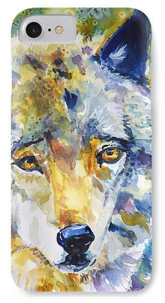 The Great Technicolor Wolf IPhone Case by P Maure Bausch