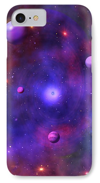 IPhone Case featuring the digital art The Great Unknown by Bernd Hau