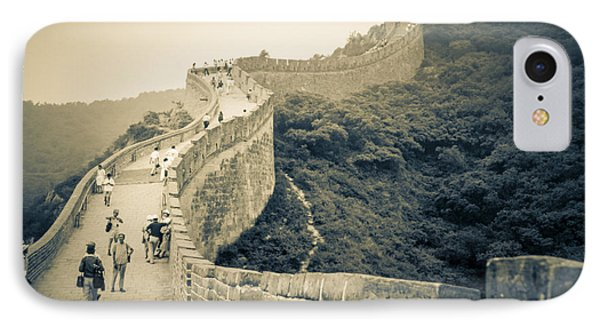 IPhone Case featuring the photograph The Great Wall Of China by Heiko Koehrer-Wagner