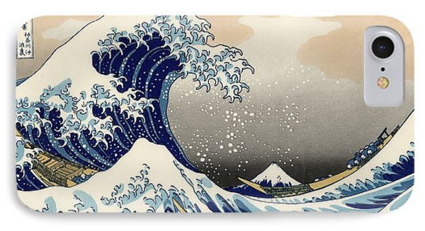 The Great Wave Off Kanagawa IPhone Case by Katsushika Hokusai