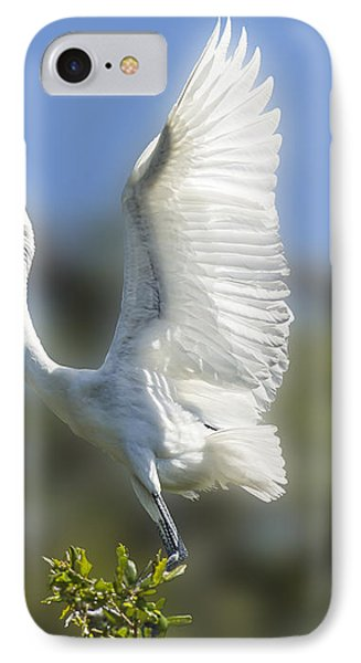 IPhone Case featuring the photograph The Great White Egret by Paula Porterfield-Izzo