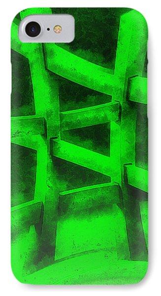 The Green Fence - Da IPhone Case by Leonardo Digenio