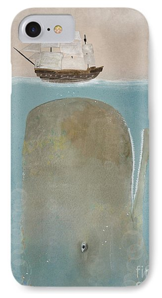 IPhone Case featuring the painting The Grey Whale by Bri B