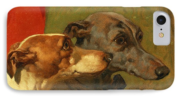The Greyhounds Charley And Jimmy In An Interior Phone Case by John Frederick Herring Snr