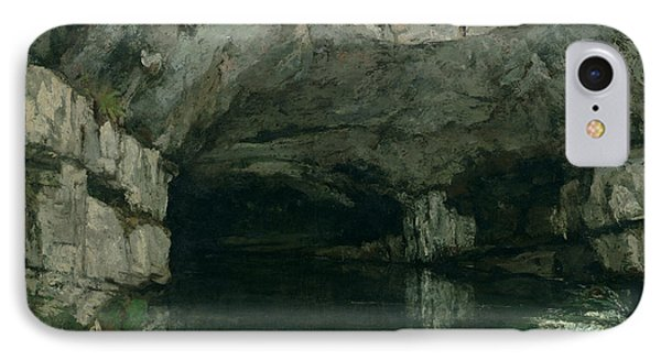 The Grotto Of The Loue Phone Case by Gustave Courbet