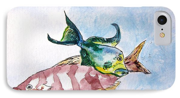 IPhone Case featuring the painting The Grouper And Friend by Gary Smith