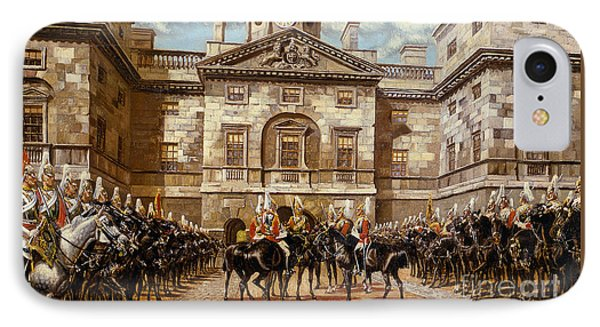 The Guard Mounting  The Horse Guards At Whitehall  IPhone Case by Harry Payne and Arthur Charles