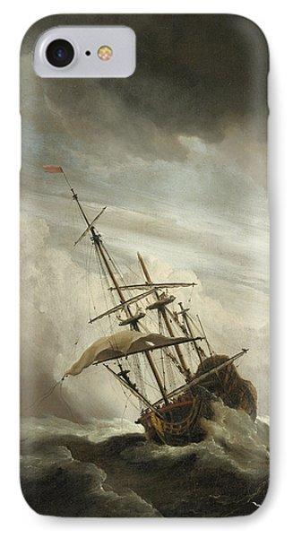 The Gust IPhone Case by Willem van de Velde