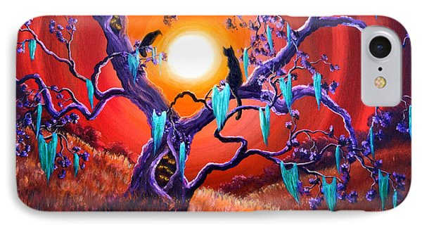 The Halloween Tree IPhone Case by Laura Iverson