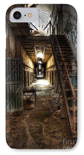 The Hallway Of Broken Dreams - Eastern State Penitentiary - Lee Dos Santos IPhone Case