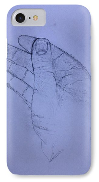 The Hand From The Light Behind The Universe IPhone Case by Contemporary Michael Angelo