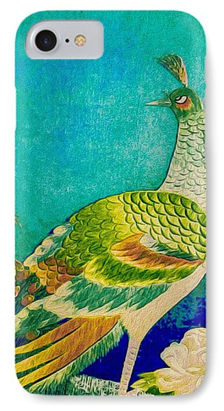 The Handsome Peacock - Kimono Series IPhone Case