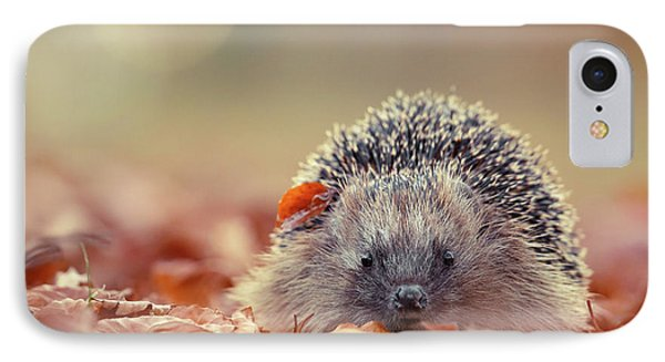 The Happy Hedgehog IPhone Case by Roeselien Raimond