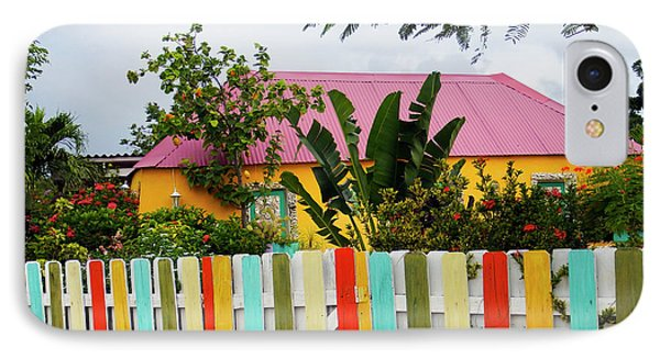 IPhone Case featuring the photograph The Happy House, Island Of Curacao by Kurt Van Wagner
