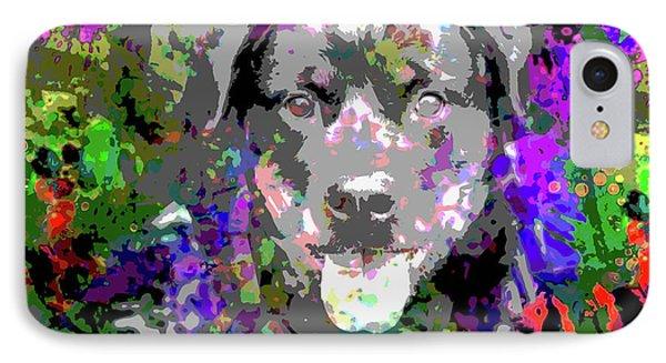 The Happy Rottweiler IPhone Case by Jon Neidert