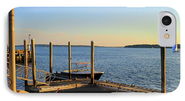 IPhone Case featuring the photograph The Harbor Bristol Rhode Island by Tom Prendergast