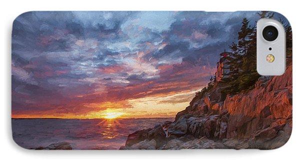The Harbor Dusk  Iv IPhone Case by Jon Glaser