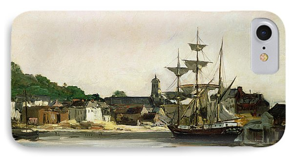 The Harbour At Honfleur IPhone Case