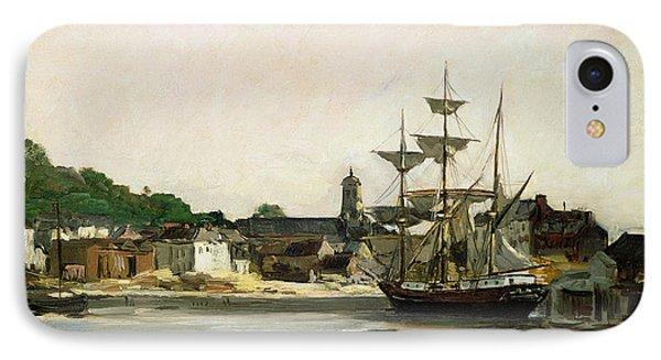 The Harbour At Honfleur IPhone Case by Karl Pierre Daubigny